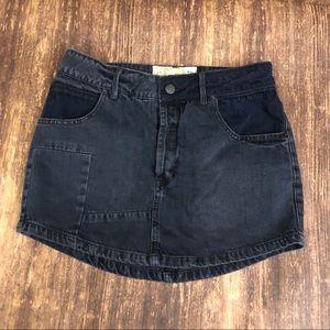 Free People Black Denim Skirt  sz 26